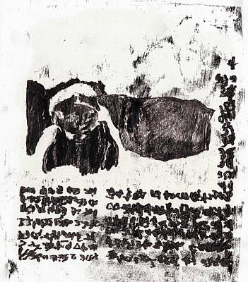Drawing - Black Ivory Issue 1b71 by Artist Dot