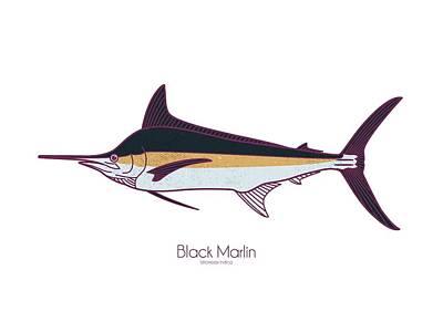 Digital Art - Black Martlin by Kevin Putman