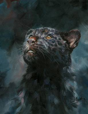 Painting - Black Panther 5 by David Stribbling