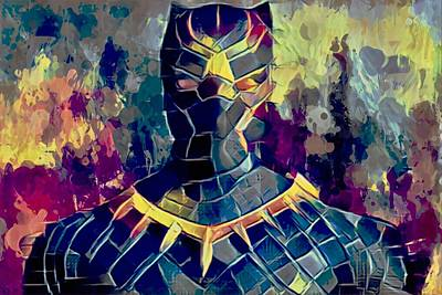 Mixed Media - Black Panther by Al Matra