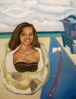 Wall Art - Pastel - Black Pearl by Elaine Marie