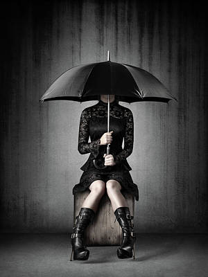 Surrealism Royalty-Free and Rights-Managed Images - Black Rain by Johan Swanepoel