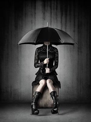 Royalty Free Images - Black Rain Royalty-Free Image by Johan Swanepoel