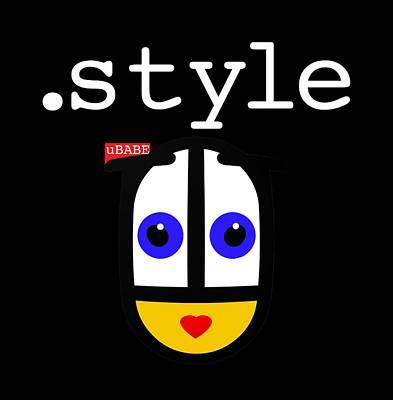 Digital Art - Black Style Ubabe by Ubabe Style