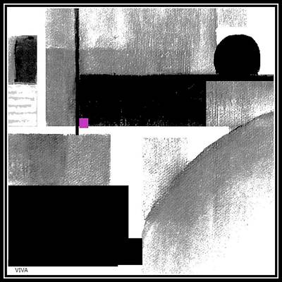 Painting - Black White Cubed by VIVA Anderson