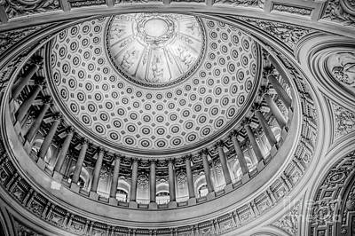 Photograph - Black White Details Up Close Architecture City Hall San Francisco  by Chuck Kuhn