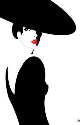 Wall Art - Digital Art - Black Widow 1 by Digital Painting