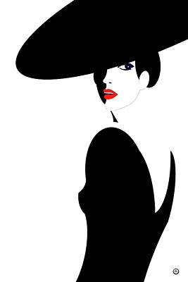 Wall Art - Digital Art - Black Widow 2 by Digital Painting