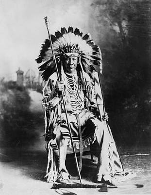 Photograph - Blackfoot Chief by Hulton Collection