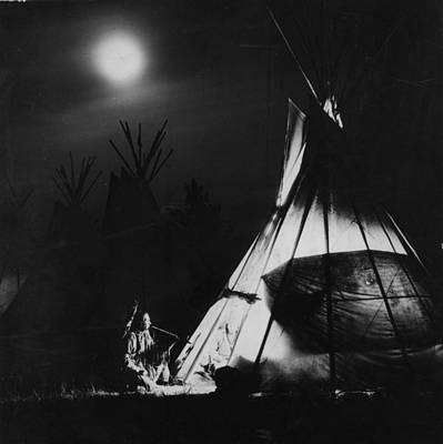 Photograph - Blackfoot Smoking by Hulton Archive