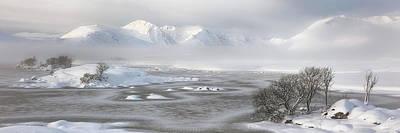 Photograph - Blackmount Winter Sunrise - Glencoe - Scotland - Mist by Grant Glendinning