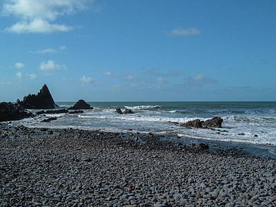 Photograph - Blackpool Mill Beach In Autumn Sun North Devon by Richard Brookes