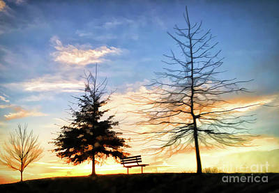Photograph - Blacksburg Sunset - Hethwood - Prices Fork Road by Kerri Farley
