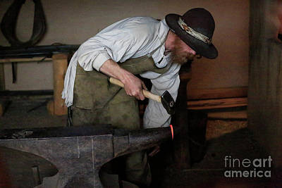 Photograph - Blacksmith At Work by Jon Burch Photography