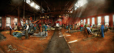 Photograph - Blacksmith - Forging Ahead 1905 by Mike Savad