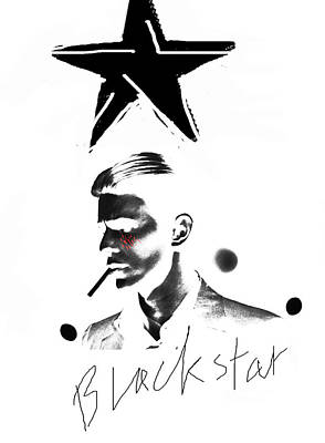 Musicians Drawings Rights Managed Images - Blackstar by Enki  Royalty-Free Image by Enki Art