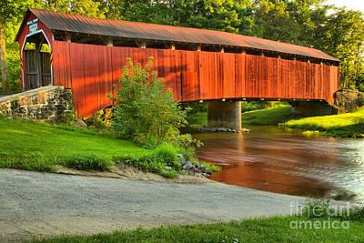 Photograph - Blain Pennsylvania Enslow Bridge by Adam Jewell