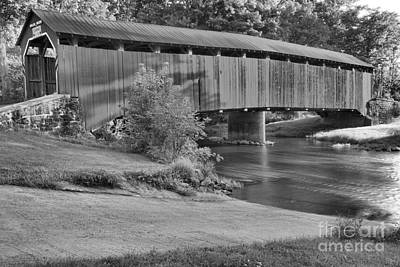 Photograph - Blain Pennsylvania Enslow Bridge Black And White by Adam Jewell