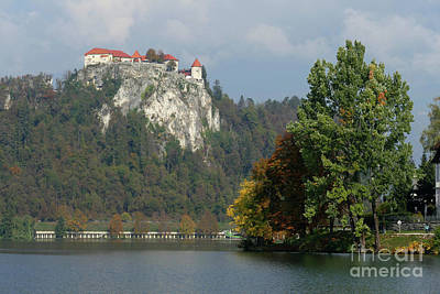 Photograph - Bled Castle From The Lake by Phil Banks