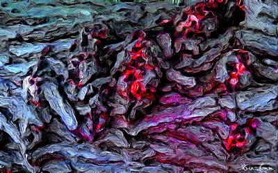 Digital Art - Bleeding Bark by Rein Nomm