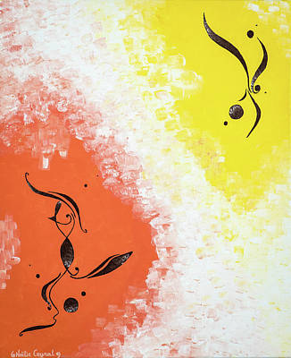 Painting - Blending... Loving... Happily and joyfully co-creating... by Noelie Ceyral