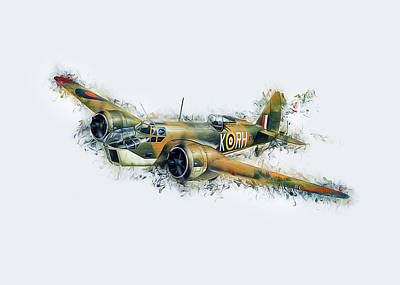 Blenheim Bomber Art Print