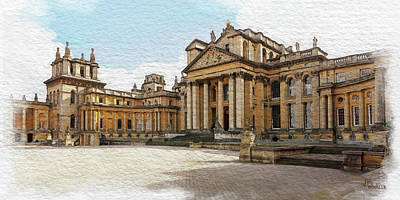 Digital Art - Blenheim Palace Number 2 by Joe Winkler