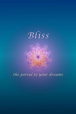 Digital Art - Bliss by Ruth Evelyn