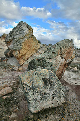 Photograph - Blm Bentonite Site Boulders by Ray Mathis