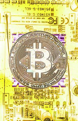 Coin Wall Art - Photograph - Blockchain Processing by Jorgo Photography - Wall Art Gallery