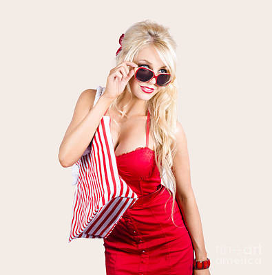 Photograph - Blond Woman Shopping by Jorgo Photography - Wall Art Gallery