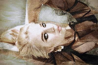 Russian Girl Wall Art - Painting - Blonde by ArtMarketJapan