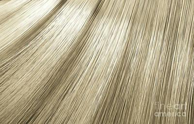 Digital Art - Blonde Hair Blowing Closeup by Allan Swart