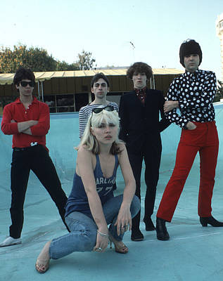Photograph - Blondie Portrait Session In La by Michael Ochs Archives
