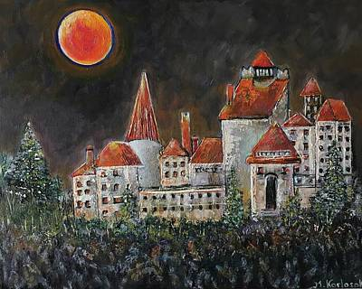 Fashion Paintings Rights Managed Images - Blood Moon.             Royalty-Free Image by Maria Karlosak