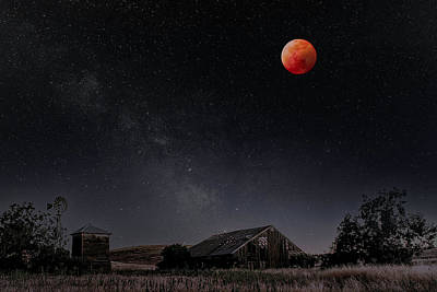 Photograph - Blood Moon Over The Central Valley by PhotoWorks By Don Hoekwater