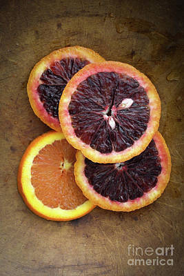 Photograph - Blood Orange Slices by Edward Fielding