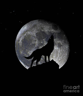 Photograph - Pre Blood Red Wolf Supermoon Eclipse 873q by Ricardos Creations