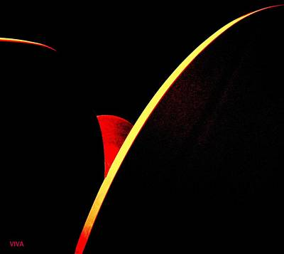 Digital Art - Bloodmoonrise Abstract by VIVA Anderson