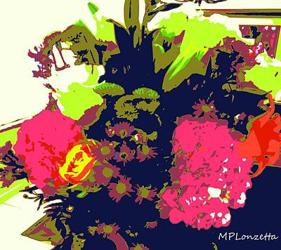 Painting - Blooming Abstract by Marian Palucci-Lonzetta