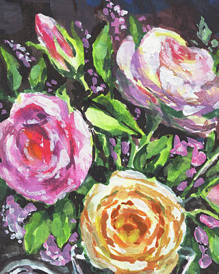 Painting - Blooming Colors Floral Impressionism  by Irina Sztukowski