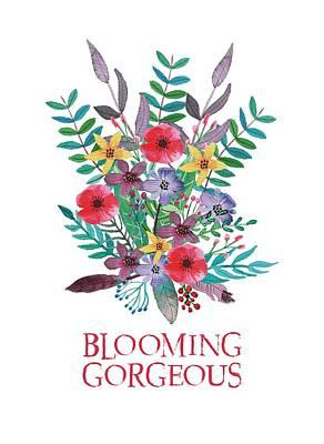 Wall Art - Mixed Media - Blooming Gorgeous by Amanda Lakey