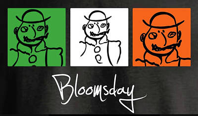 Drawing - Bloomsday by Roger Cummiskey