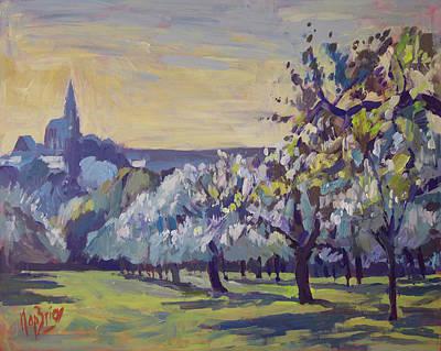 Painting - Blossom Trees Near Vijlen by Nop Briex