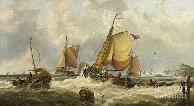Painting - Blowing Hard, Billy Boys Of Bridlington  by John Callow