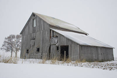 Photograph - Blowing Snow Barnstead by Dylan Punke