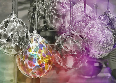 Photograph - Blown Glass Ornaments by JAMART Photography