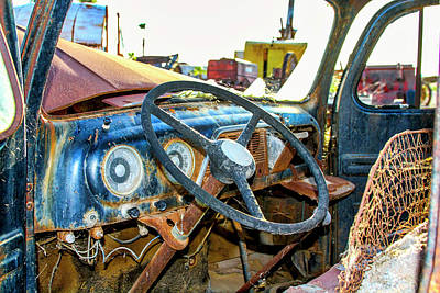 Photograph - Blue 1952 Ford F5 Truck by Gene Parks