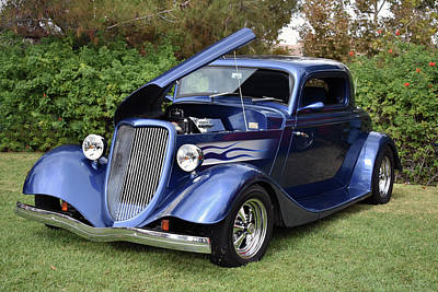 Photograph - Blue 34 Coupe by Bill Dutting