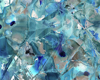 Painting - Blue Abstract Art - Ice Castles - Sharon Cummings by Sharon Cummings